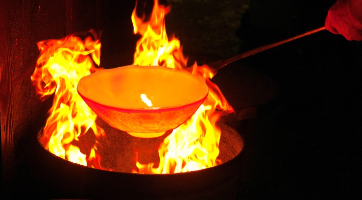 flamed pottery