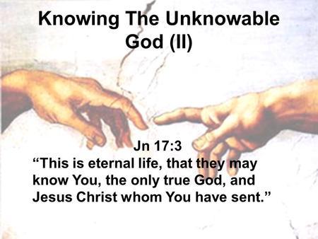 unknowable God