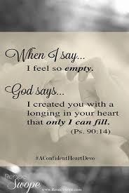 God fills