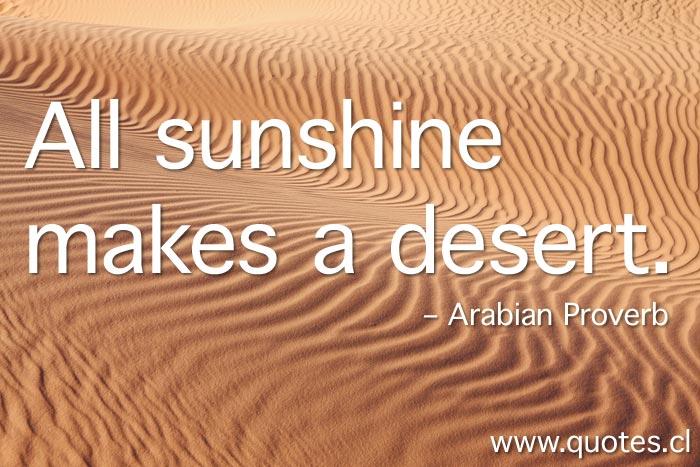 all-sunshine-makes-desert