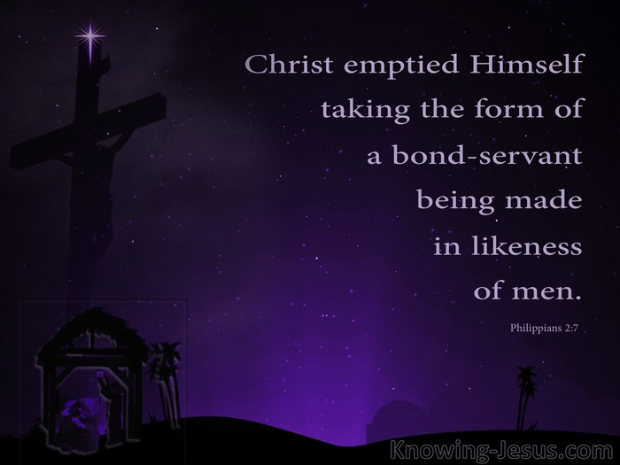 Philippians+2-7+He+Emptied+Himself+Taking+The+Form+Of+A+Servant+purple